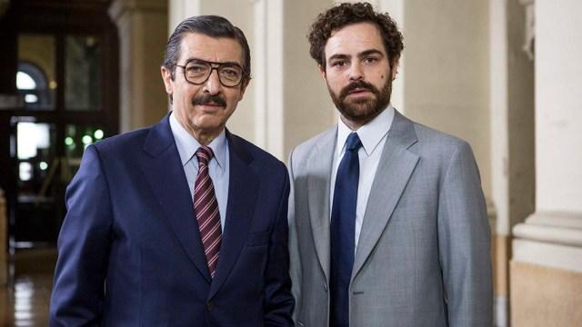 Ricardo Darín y Peter Lanzani, Strassera y Moreno Ocampo, en la versión de Santiago Mitre (Foto: La Unión de los Ríos-Lina Etchesuri)