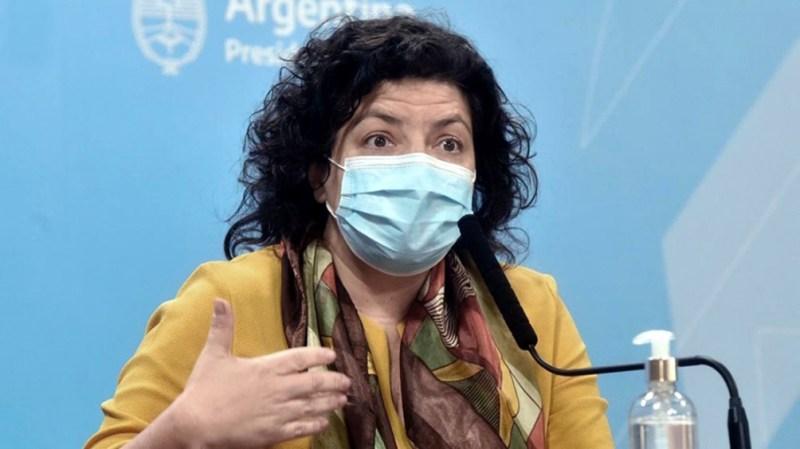 Conferencia de prensa de Carla Vizzotti.