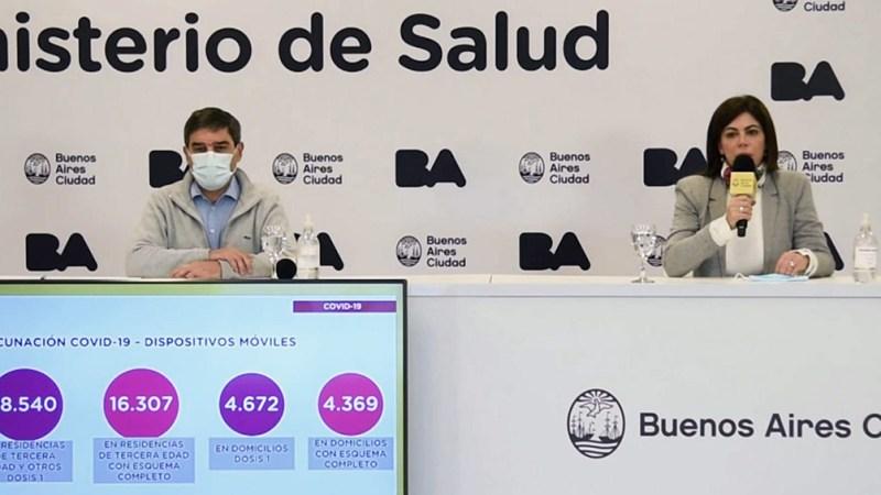 Quirós brindó su conferencia de prensa semanal este viernes en la sede del Ejecutivo porteño del barrio de Parque Patricios.