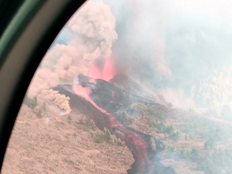 El gobierno local anunció la evacuación de varias poblaciones. Foto: Twitter Guardia Civil.