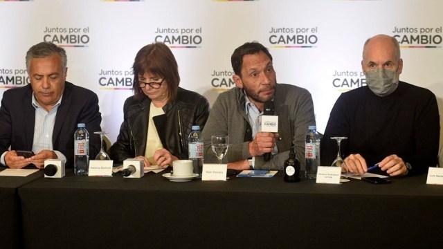 Mesa de Juntos por el Cambio. Foto: prensa JxC.