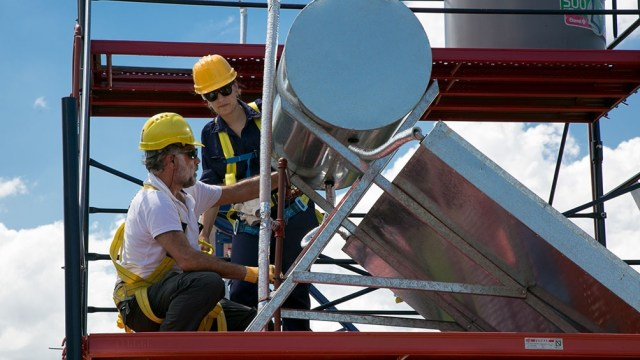 La energía solar ya se utiliza en redes domiciliarias. (Foto: INTI)