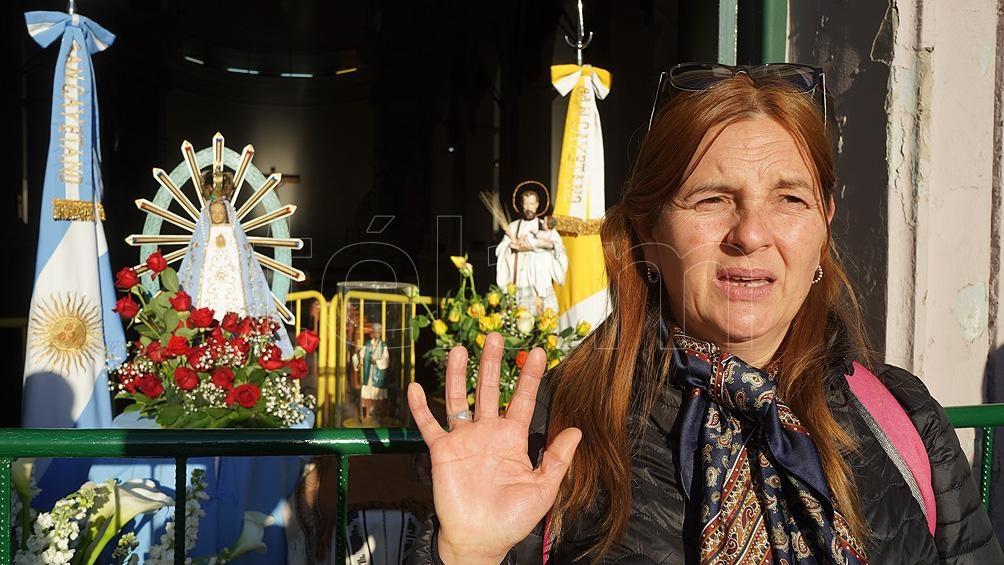 """""""Madre del Pueblo, te pedimos por la salud y el trabajo"""" es el lema de la peregrinación."""