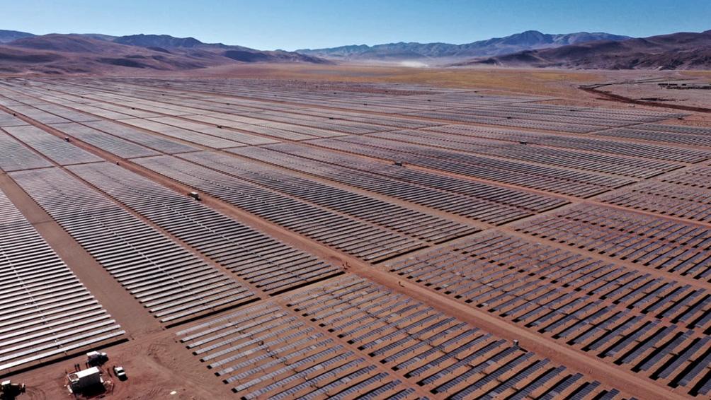 El lugar elegido para la construcción de Cauchari es uno de los de mayor radicación solar del planeta.