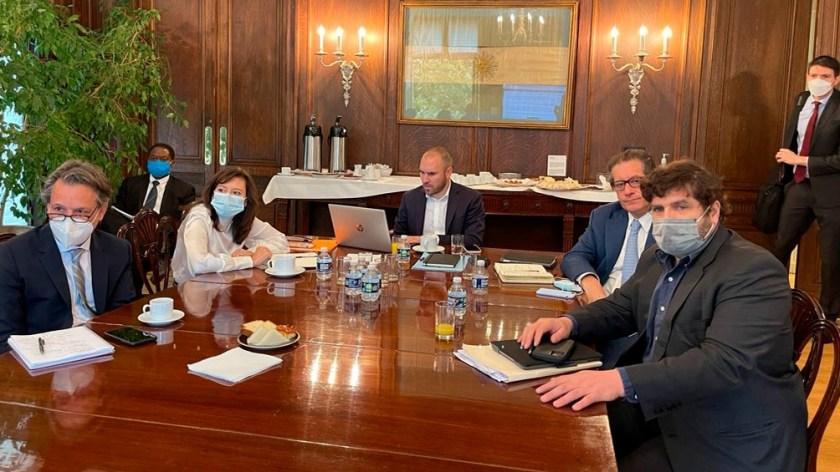 Miguel Pesce también participó de la reunión con el equipo del FMI.