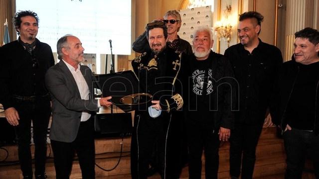 Claudio Morresi encabezó el acto de distinción en el salón Dorado. (Foto: Osvaldo Fanton)