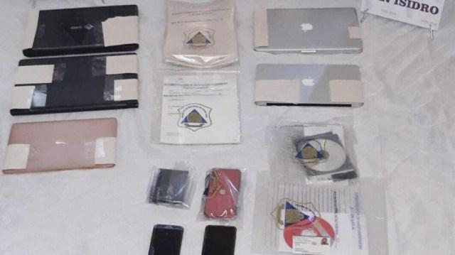 Algunos de los objetos secuestrados en la casa del doctor Luque.