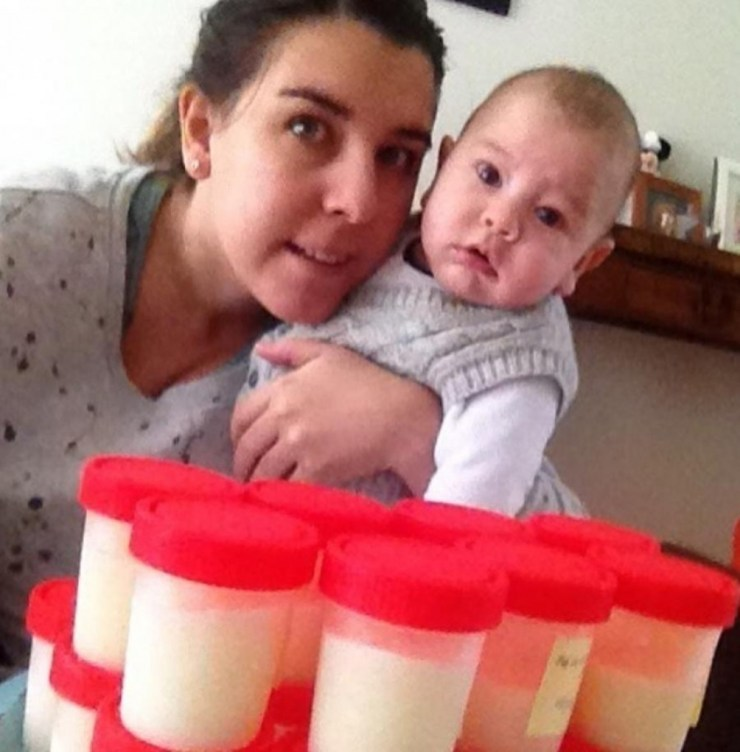 """Agustina aseguró que la donación de leche humana """"no es un proceso doloroso""""."""