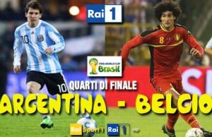 Mondiali Brasile, ultimi quarti di finale con Argentina-Belgio 4