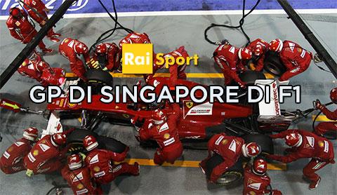 Gp di Singapore di F1 nel weekend di Rai Sport 1