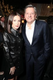 Millie Bobby Brown and Ted Sarandos, Chief Content Officer for Netflix