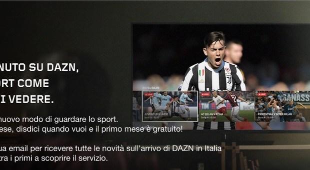 DAZN canale web streaming calcio