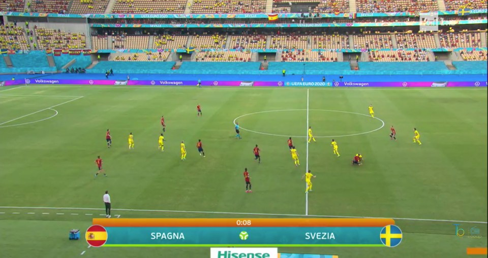 Spagna-Sveglia Euro 2020 ascolti Rai Uno