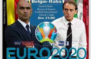 Belgio-Italia Euro 2020 Rai Uno