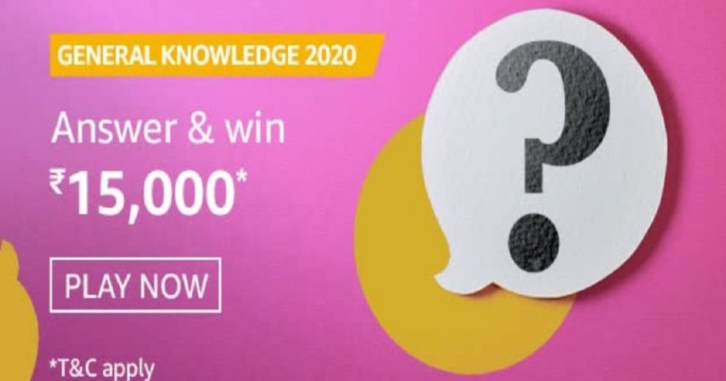 Amazon General Knowledge 2020 Quiz Answers