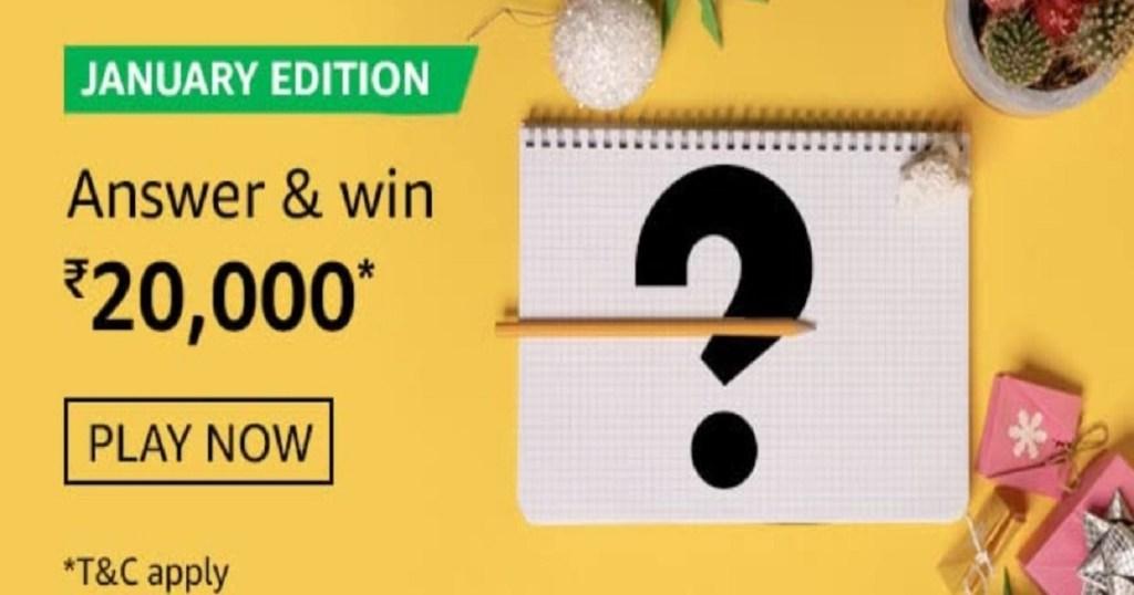 Amazon January Edition Quiz Answers