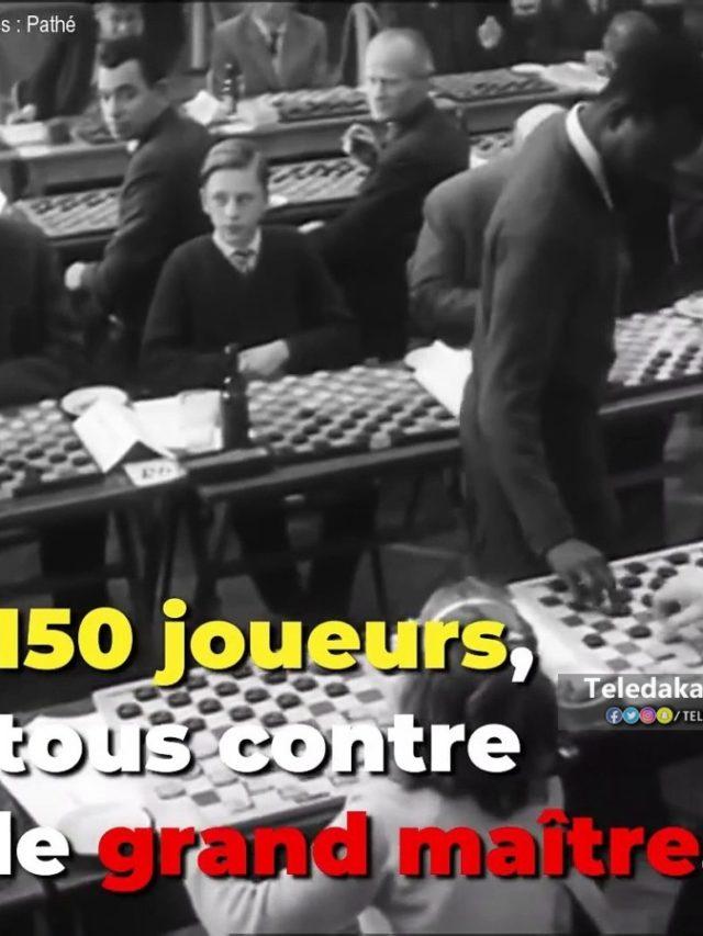 150 joueurs contre le grand maître Baba Sy