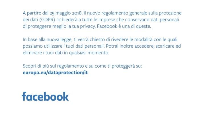 Facebook, pubblicità sui quotidiani per la nuova privacy