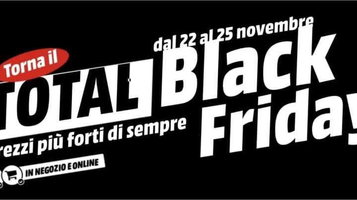 In arrivo il Black Friday, venerdì 23 sconti su molti prodotti