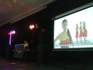 Discoteca con video proyección
