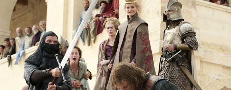 GAME OF THRONES ned stark joffrey