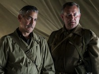 George Clooney and Hugh Bonneville in The Monuments Men
