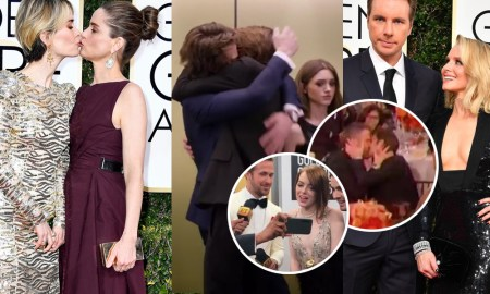 golden globes kiss