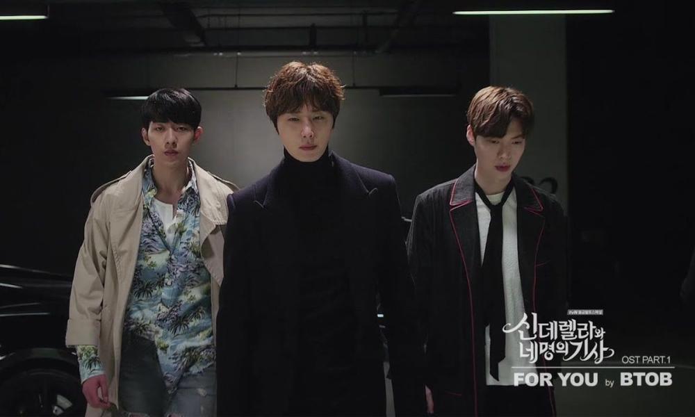 I tre protagonisti nel video musicale di BTOB