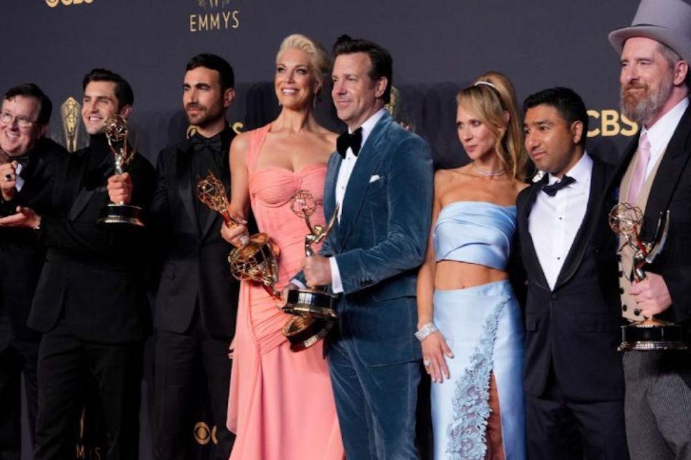 Emmy Awards 2021: i vincitori - il cast di Ted Lasso