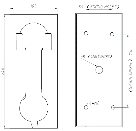 Drawing JR202-CB Montaje pared