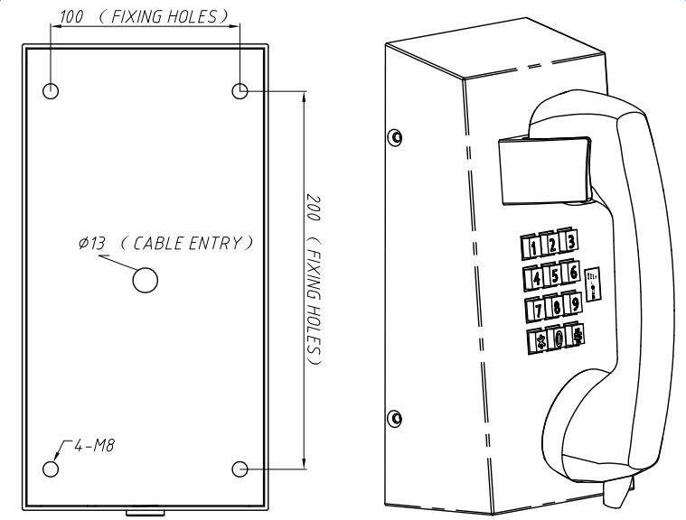 Drawing JR201-FK-VC Atras