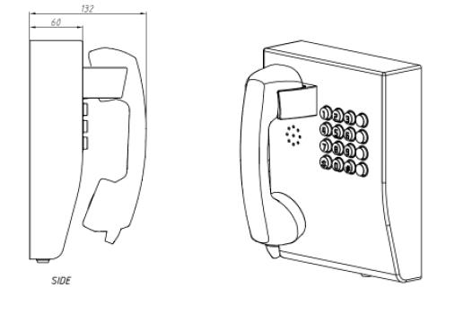 JR207-FK Telefono para servicio bancario