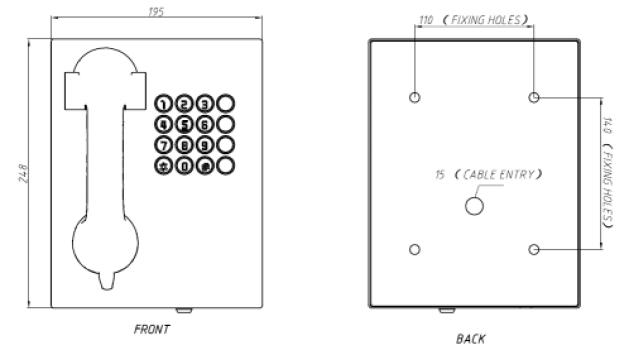 Drawing JR207-FK Telefono para servicio bancario