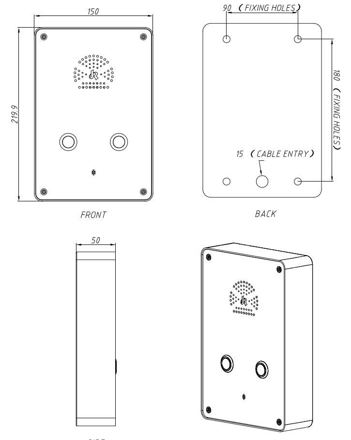 Drawing JR301-2B Telefono de Emergencia Vozell