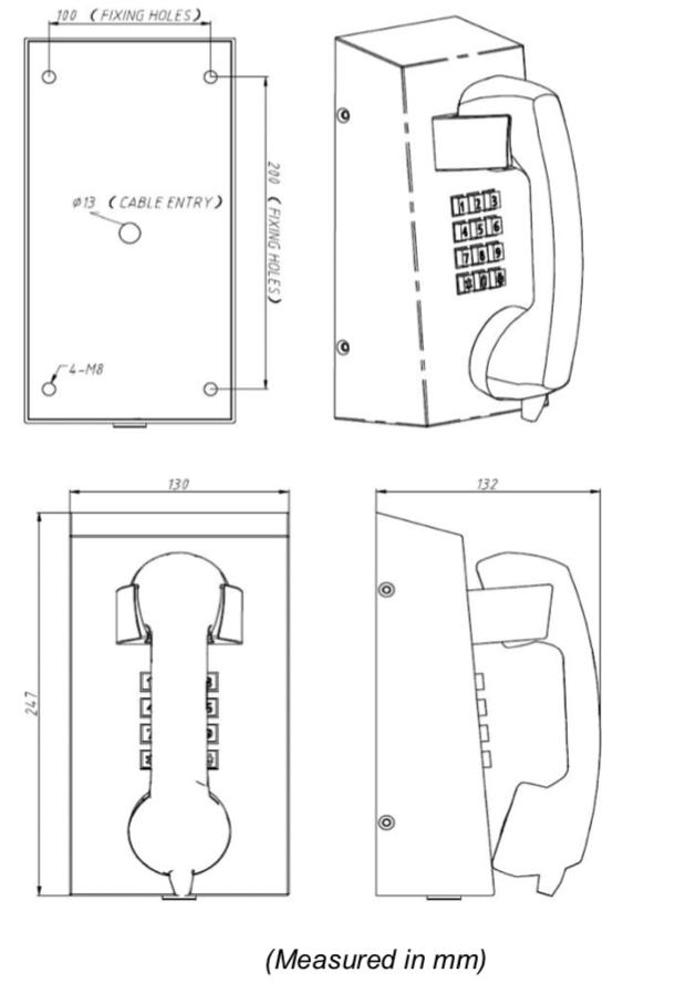 Drawing JR201-FK Telefono Antivandalico