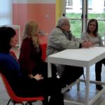 Ennio Borgia, Elisa Bonacini ed insegnanti al 1° Istituto Comprensivo di Aprilia