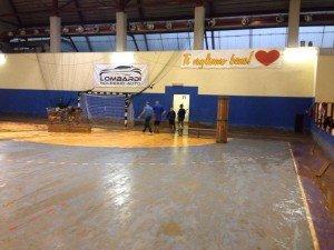Il Paladua di Benevento danneggiato dall'alluvione