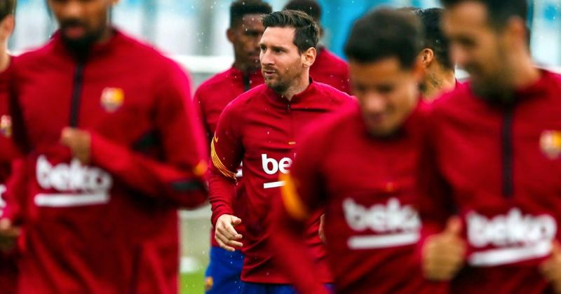 "Lionel Messi resumes group training, hilarity to ""fat"" Luis Suarez 