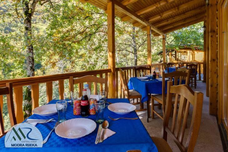 Rafting camp Modra Rijeka restaurant
