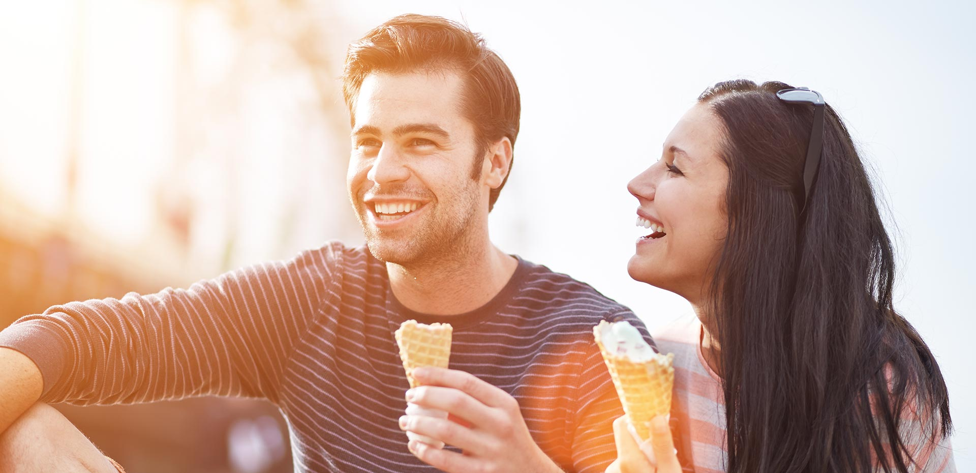 Image result for couple eating ice cream
