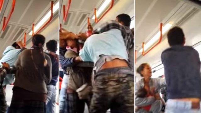 Si nëpër filma: Rrahje masive në një tramvaj në Beograd (Foto/Video, +18)