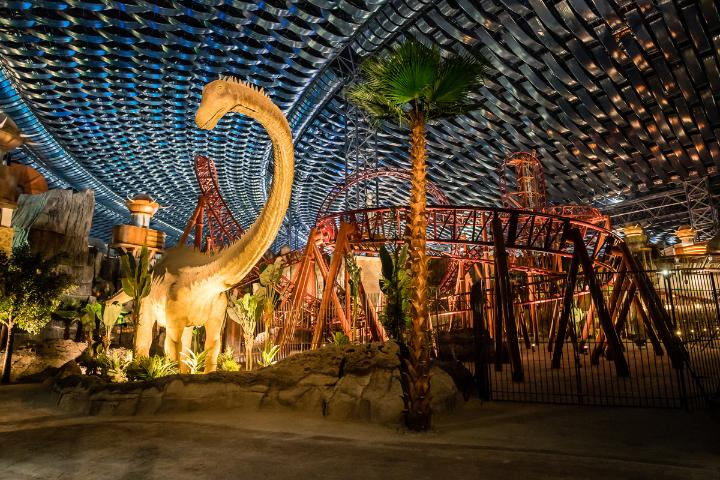 There are 70 life-sized animatronic dinosaurs that took Japanese firm Kokoro five years to create