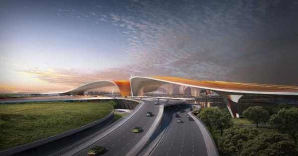 New Beijing airport terminal at Daxing Airport