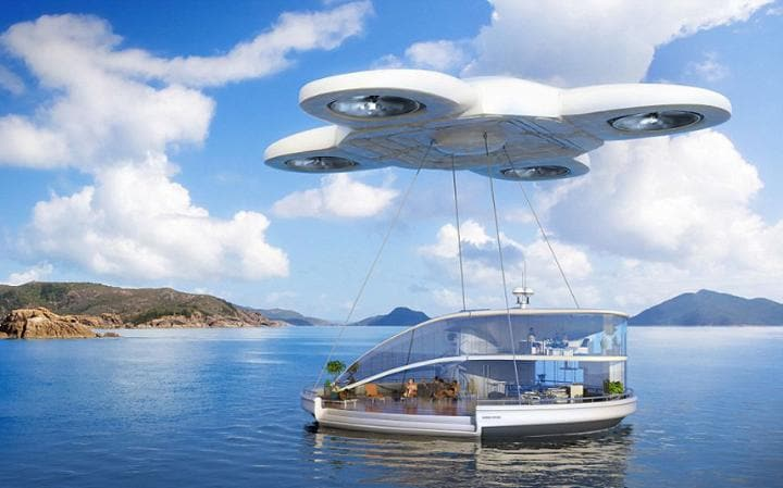 A house could be carried to your desired destination by a drone