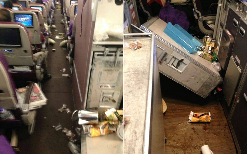Passengers treated for injuries after severe turbulence ...