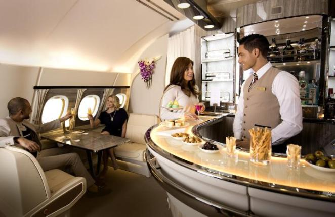 On board an Emirates A380