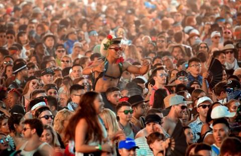The crowd at Coachella