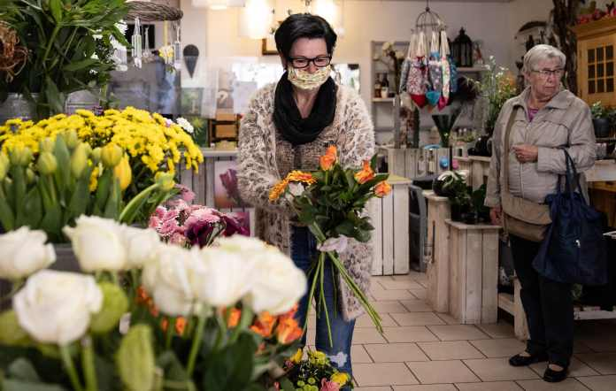Some small stores, such as florists, have been allowed to reopen