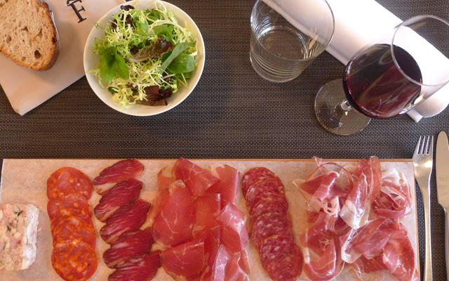 Start with well-aged Spanish ham or a selection of inventive tapas
