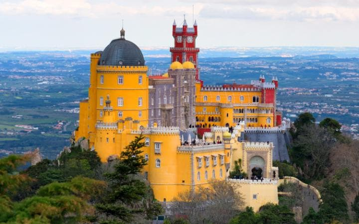 Sintra in the foothills of Portugal's Sintra Mountains